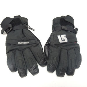 59077f0678d Burton Mens Black Leather   Nylon Winter Ski Glove